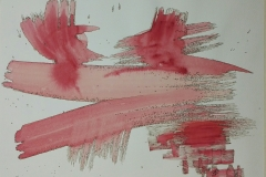 Red Brush Strokes With outline 01